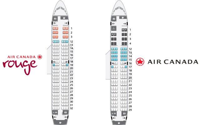 cabines Airbus A319-100 Air Canada